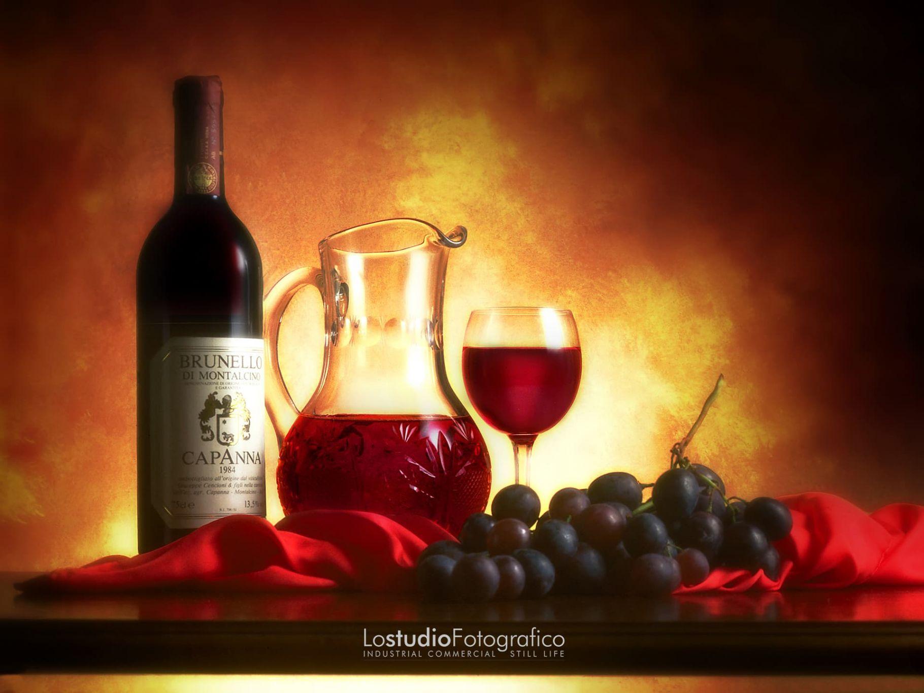 Fotografia di vino, food, alimentari, beverage. Studio fotografico Verona, Veneto. Still life di prodotti alimentari e bevande. Vino